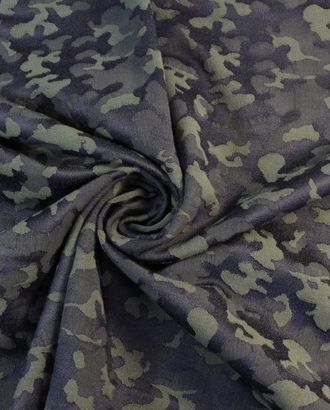 Ткань жаккард цвета хаки с выпуклым рисунком арт. ГТ-1817-1-ГТ0045740