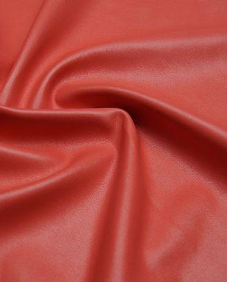 Экокожа однотонная, цвет коралловый арт. ГТ-2583-1-ГТ0047359