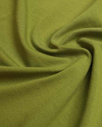 Трикотаж футболочный однотонный, цвет оливковый венок  (235 г/м2) арт. ГТ-2601-1-ГТ0047380