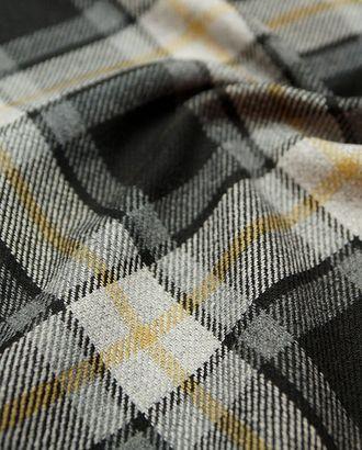 Ткань пальтовая двухсторонняя, на сером фоне черно-бежевая клетка арт. ГТ-2719-1-ГТ0047512