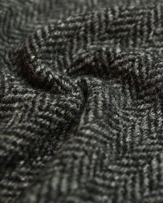Пальтовая двухсторонняя меланжевая ткань в елочку черно-белого цвета арт. ГТ-2730-1-ГТ0047523