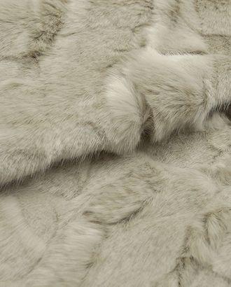 Искусственный мех с удлиненным ворсом серебристого цвета арт. ГТ-2736-1-ГТ0047529