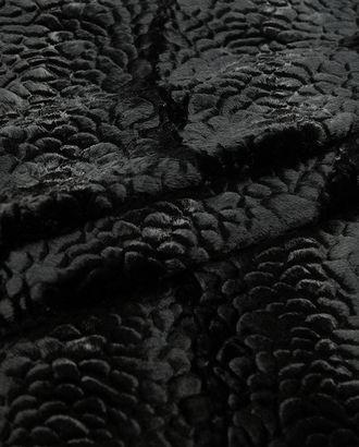 Изысканный искусственный каракуль с вертикальной волной, черный лебедь арт. ГТ-2738-1-ГТ0047531