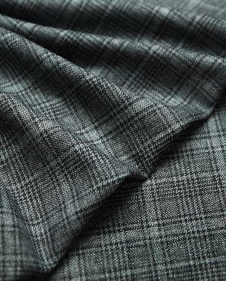Классическая двухсторонняя костюмная ткань в клетку серого цвета арт. ГТ-2768-1-ГТ0047625