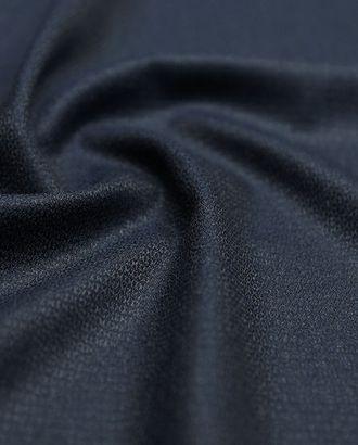 Двухсторонняя костюмная ткань, меланж темно-синего цвета арт. ГТ-2778-1-ГТ0047636