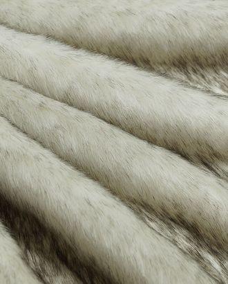 Превосходный длиноворсовый мех, цвет белый с серым крапом арт. ГТ-2797-1-ГТ0047675