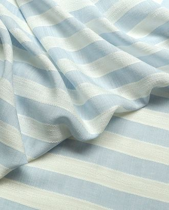 Легкая плательная ткань с фактурными полосками на голубом фоне   132 г/м2 арт. ГТ-2851-1-ГТ0047719