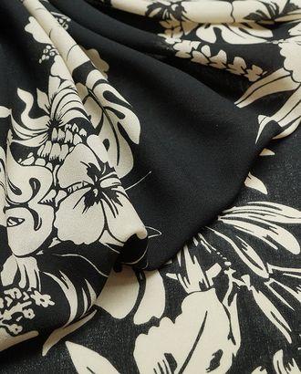 Изысканная шерстяная плательная ткань с цветочными гирляндами арт. ГТ-2875-1-ГТ0047744