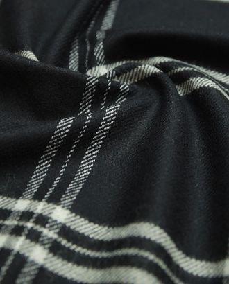 Классическая шерстяная костюмная ткань черного в клетку арт. ГТ-2889-1-ГТ0047767