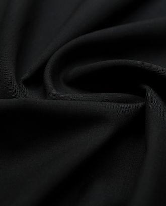 Классическая костюмная ткань угольно-черного цвета  (185 г/м2) арт. ГТ-2894-1-ГТ0047772