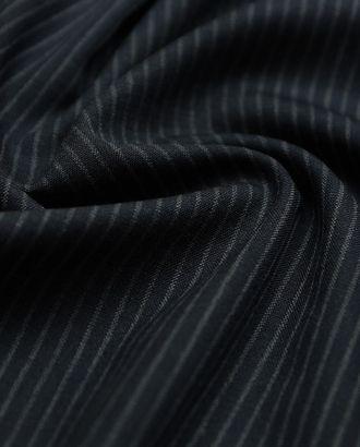 Элегантная костюмная ткань черно-серого цвета в среднюю полоску арт. ГТ-2896-1-ГТ0047774