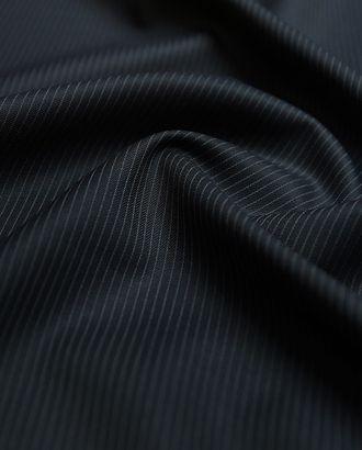 Двухсторонняя костюмная ткань темно-синего цвета в полоску арт. ГТ-2904-1-ГТ0047782