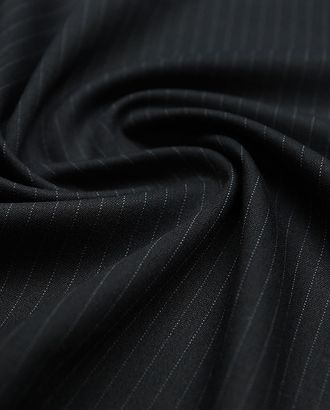 Классическая костюмная ткань в тонкую полоску, цвет темный графит арт. ГТ-2911-1-ГТ0047789