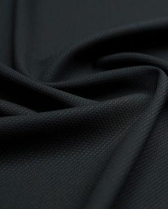 Фактурная костюмная ткань черного цвета арт. ГТ-2926-1-ГТ0047806