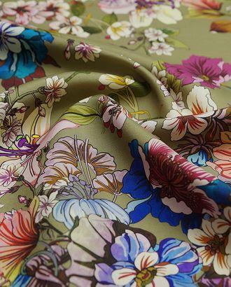 Плательная ткань с цветочным принтом арт. ГТ-2947-1-ГТ0047827