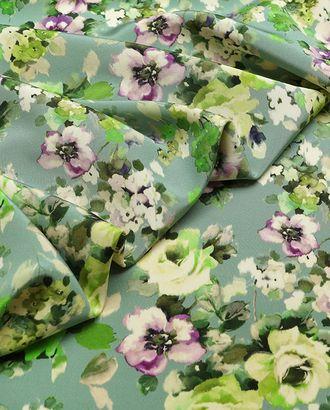 """Ткань плательная """"Кади"""" с нежным цветочным принтом арт. ГТ-2967-1-ГТ0047847"""