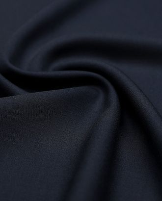 Ткань костюмная двухсторонняя темно-синего цвета  (240г/м2) арт. ГТ-2973-1-ГТ0047853