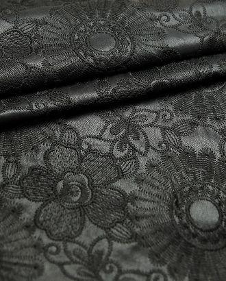 Изысканная вышитая экокожа черного цвета арт. ГТ-2988-1-ГТ0047868