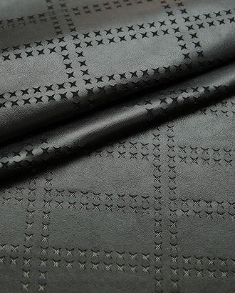 Перфорированная экокожа черного цвета арт. ГТ-2995-1-ГТ0047875