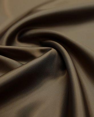 Подкладочная ткань коричневого цвета в диагональную полоску арт. ГТ-3000-1-ГТ0047880