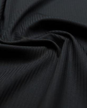 Классическая костюмная ткань черного цвета в полоску арт. ГТ-3016-1-ГТ0047896
