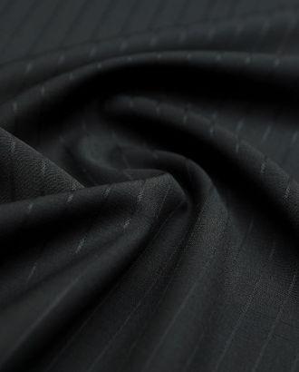 Черная костюмная ткань в полоску арт. ГТ-3023-1-ГТ0047903