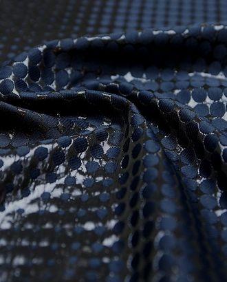 Прекрасный жаккард блестящая фактура темно-синего цвета арт. ГТ-3031-1-ГТ0047914