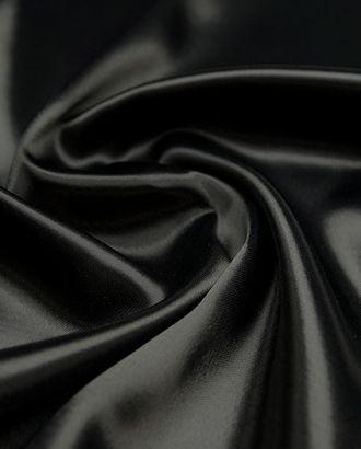Великолепная подкладочная ткань угольно-черного цвета  (165 г/м2) арт. ГТ-3216-1-ГТ0047953