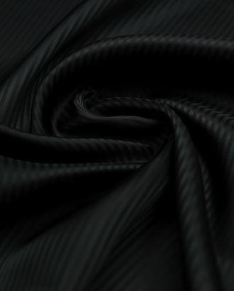 Черная подкладочная ткань в полоску арт. ГТ-3217-1-ГТ0047954