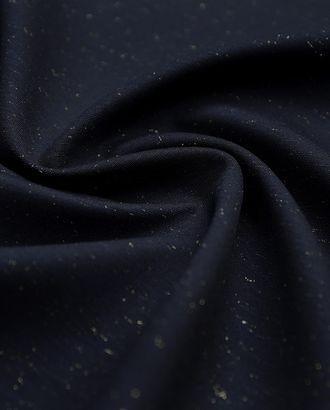 Костюмное джерси полуночно-синего цвета с люрексом дублированное трикотажем  (406 г/м2) арт. ГТ-3232-1-ГТ0047969