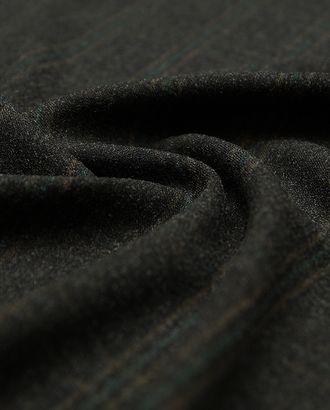 Прекрасная костюмная ткань в клетку на кофейном фоне  (306 гр/м2) арт. ГТ-3279-1-ГТ0048024