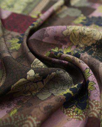 Прекрасный креп с цветочным принтом  (128 гр/м2) арт. ГТ-3300-1-ГТ0048047