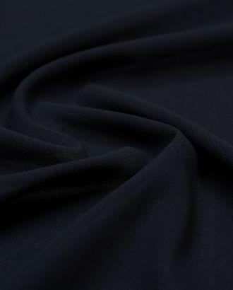 Прекрасная плательная ткань крепового плетения цвета полного затмения   (152 гр/м2) арт. ГТ-3429-1-ГТ0048128