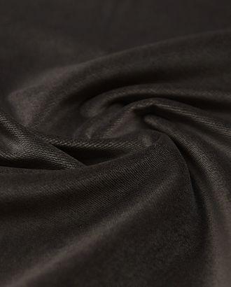 Прекрасный бархат на хлопковой основе серо-коричневого цвета арт. ГТ-3942-1-ГТ0000630