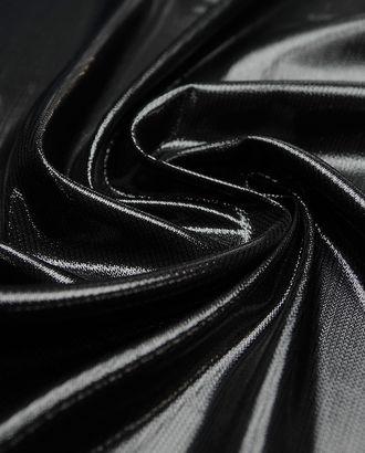 Изысканный шелк с люрексом, цвет черный лебедь (73 гр/м2) арт. ГТ-3950-1-ГТ0000643
