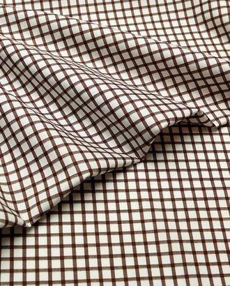Рубашечная ткань в коричневую клетку арт. ГТ-4023-1-ГТ0000730