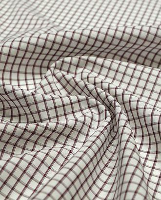 Хлопковая рубашечная ткань в мелкую коричневую клетку арт. ГТ-4153-1-ГТ0000892