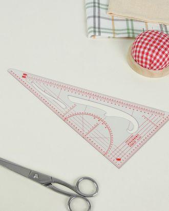 Лекало портновское метрическое «Треугольник» р. 11х20,5 см арт. ЛЕ-42-1-36926