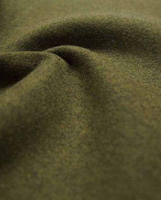 Шерстяная двухсторонняя пальтовая ткань, цвет оливковый хаки арт. ГТ-2622-1-ГТ0047402