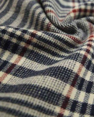 Двухсторонняя шерстяная пальтовая ткань черно-синего цвета в клетку арт. ГТ-2624-1-ГТ0047404