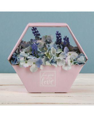 Коробка-сота для цветов «С любовью», 23 × 20 см арт. УПФК-1-1-37381