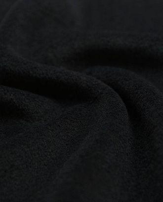 Пальтовая шерстяная ткань насыщенного черного цвета арт. ГТ-2635-1-ГТ0047415