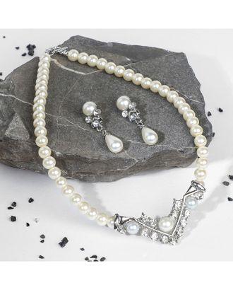 """Комплект бижутерии """"Антуанетта"""" серебро арт. БКП-32-1-37402"""