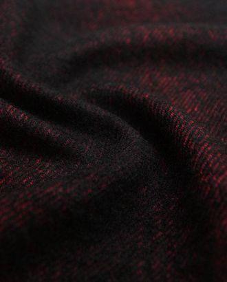 Шерстяная двухсторонняя пальтовая ткань красно-черного и черно-серого цветов арт. ГТ-2638-1-ГТ0047418