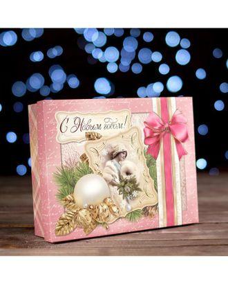"Коробка картонная ""Подарочная коробка. Декупаж"", 23,7 х 18,7 х 6,3 см арт. УПКК-1-1-37383"