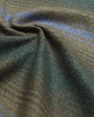 Двухсторонняя пальтовая ткань, на серо-зеленом фоне цветные полосы арт. ГТ-2640-1-ГТ0047420