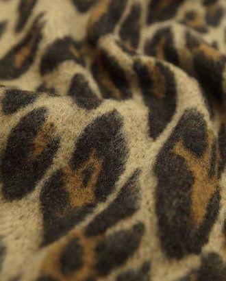 Двухсторонняя шерстяная пальтовая ткань леопардовой расцветки арт. ГТ-2625-1-ГТ0047405