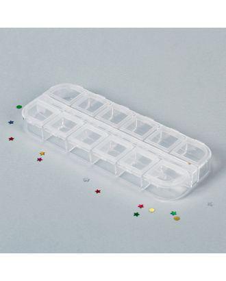Контейнер для бисера р.13x5x1,5 см арт. ОО-35-1-36001