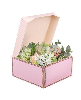 Коробка из картона «Порхай от счастья», 17 × 9 × 17 см арт. УП-4-1-37379