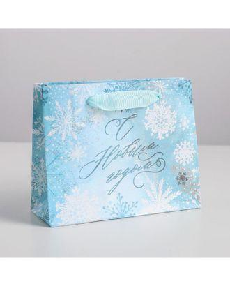 Пакет ламинированный горизонтальный «Морозный день», р.23 × 18 × 10 см арт. ЛМП-1-1-37391